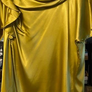 Chartreuse silky blouse